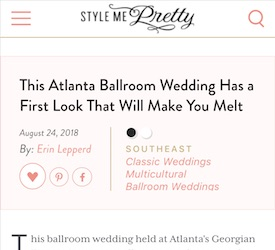This Atlanta Ballroom Wedding Has a First Look That Will Make You Melt