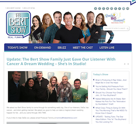 The Bert Show Family Just Gave Our Listener With Cancer A Dream Wedding