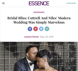 Bridal Bliss: Cottrell And Niles' Modern Wedding