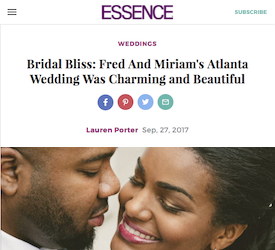 Bridal Bliss: Fred And Miriam's Atlanta Wedding