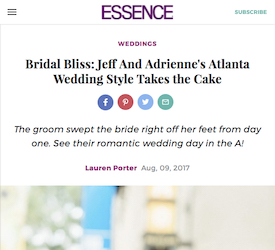 Bridal Bliss: Jeff And Adrienne's Atlanta Wedding