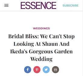 Bridal Bliss: We Can't Stop Looking At Shaun And Ikeda's Gorgeous Garden Wedding