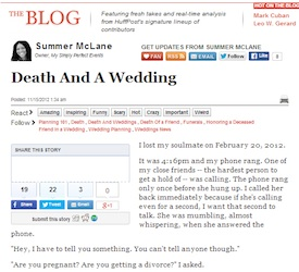 Death And A Wedding