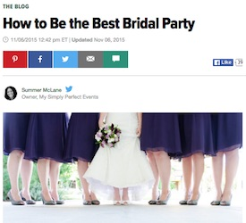 How to Be the Best Bridal Party