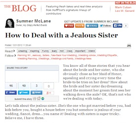 How To Deal With A Jealous Sister