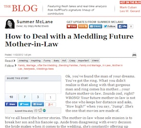 How To Deal With A Meddling Future Mother In Law