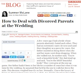 How To Deal With Divorced Parents At The Wedding