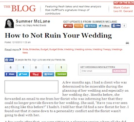 How To Not Ruin Your Wedding