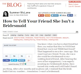 How To Tell Your Friend She Isnt A Bridesmaid
