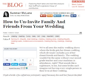 How To UnInvite Family And Friends From Your Wedding